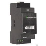 Автоматический преобразователь интерфейсов USB/RS-485 ОВЕН АС4 фото