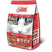 Корм Султан Мясная трапеза для кошек фото