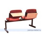 Мягкий двухместный блок стульев фото