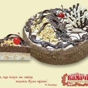 Бисквитно-ореховый торт Шоколадно-горіховий от производителя фото