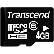 Micro SD (TransFlash) 4 Gb Transcend class 6 + Card Reader фото