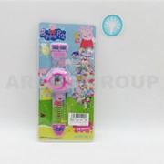 Часы игрушечные Peppa pig с проектором 24 картинки. фото