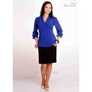 Блуза 6503 Синий цвет фото