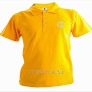 Рубашка поло Saab желтая вышивка белая фото