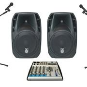 Комплект звукового оборудования 1 кВт ( Аренда) фото