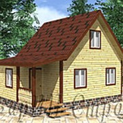 Мансардный дом из профилированного строганного бруса 6х8 , проект № 14 фото