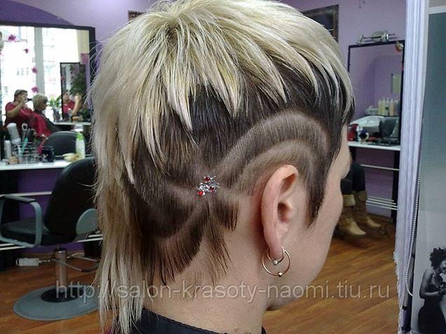 фото рисунки на волосах