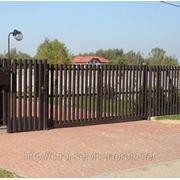 Ворота штакетные фото