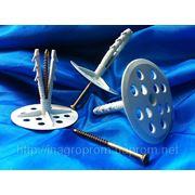 Дюбель 10х70 mm диск d 70 mm крепления теплоизоляции (TERMODUBEL) с ударным шурупом 4,5х70 mm (UTD NS) фото