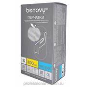 Перчатки нитриловые смотровые неопудренные,текстурированные на пальцах,Benovy, размер S, M, L,XL ВЕС 4,0грамм фото