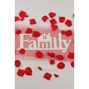 """Декор-надпись """"Family"""" с домиком / белый фото"""