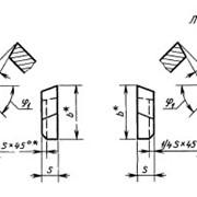 Пластина типа 09 для автоматных резцов ГОСТ 25402-90 фото