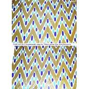 Искусственный шелк с узбекским орнаментом фото