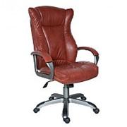 Бюрократ Кресло для руководителя CH-879DG/Brown, кожзам коричневый, пластик темно-серый фото