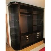 Шкаф с полками темно-коричневый фото