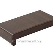 Подоконник пластиковый Витраж В-40 600мм темный дуб Артикул ROS0754.83/6 фото