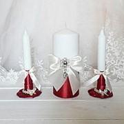 Свадебные свечи бордо фото