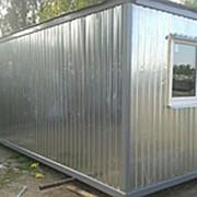 Бытовка металлическая 6*2,4 метра фото