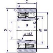 Подшипник роликовый радиальный с короткими цилиндрическими роликами 4-3182128 фото