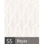 Пряжа для вязания Кашемир файн ALIZE белый 55 фото