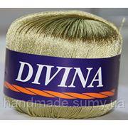 Пряжа для ручного и машинного вязания DIVINA (Дивина) олива 11 фото