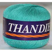 Пряжа для ручного и машинного вязания THANDIE (Танди) голубая бирюза 10 фото