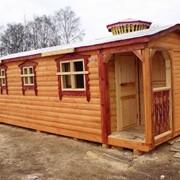 Сауны деревянные,постройка,доставка фото
