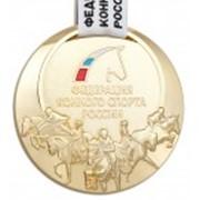 Медаль спортивная золотая фото