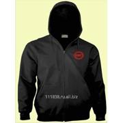 Толстовка Fiat черная вышивка красная фото