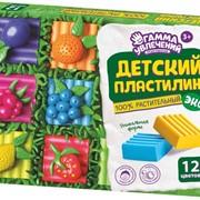 Пластилин детский РАСТИТЕЛЬНЫЙ, 6,9,12 цветов фото