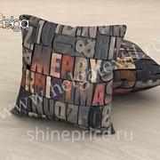 Мери Кристмас арт.ТФП2965 v5 (45х45-1шт) фотоподушка (подушка Габардин ТФП) фото