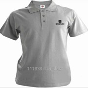 Рубашка поло Suzuki серая вышивка черная фото