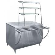 Прилавок для горячих напитков ПГН-70Т нейтральный стол, 3 полки, 1120 мм фото