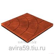 Покрытие резиновое для площадок Плиты Паутинка, Сеть, 350х350 мм, 20 мм фото