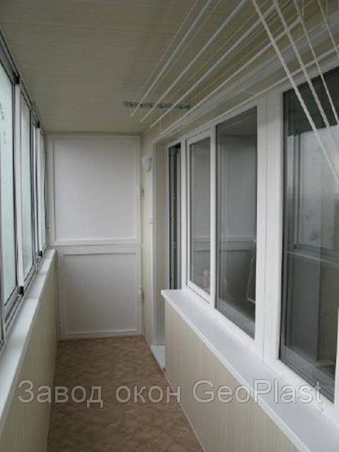 Внутренняя отделка балкона.