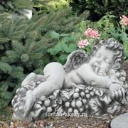 Ангел с виноградом-лежа фото