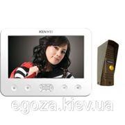 Комплект (Видеодомофон KENWEI KW-E706C WHITE+ Видеопанель KW-139MCS) фото