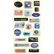 Объемные наклейки (объёмные этикетки) с логотипом фото