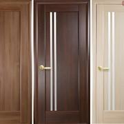 Дверь из бруса Новый стиль Делла ясень фото