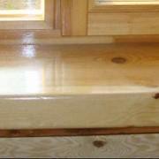Подоконники деревянные фото