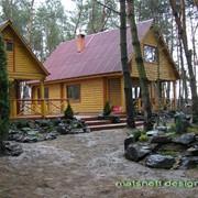 Ландшафтный дизайн возле дачного дома фото