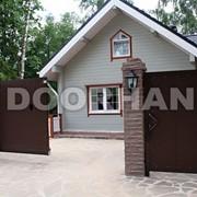 Комплект стандартный №1 сдвижных ворот 3500 х 2100 коричневый RAL8014 фото