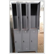 Металличекий шкаф для раздевалки (6 секций) фото