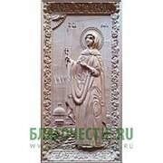Резные иконы София (Софья), святая мученица, деревянная резная икона, ростовая мерная Высота иконы 38 см фото