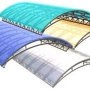 Сотовый поликарбонат 10 мм. Прозрачный и цветной. фотография