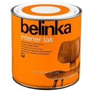 Бесцветное покрытие Belinka Interier LAK 0,2 л. Артикул 45871 фото