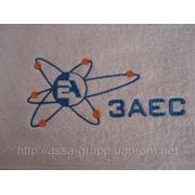 Вышивка логотипов на полотенцах фото