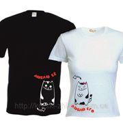 Прикольные футболки для двоих фото