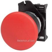 Кнопка грибовидная с фиксацией, красная д. 40 фото