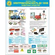 Стенд по охране труда «Электробезопасность до 1000В. Защитные средства» фото